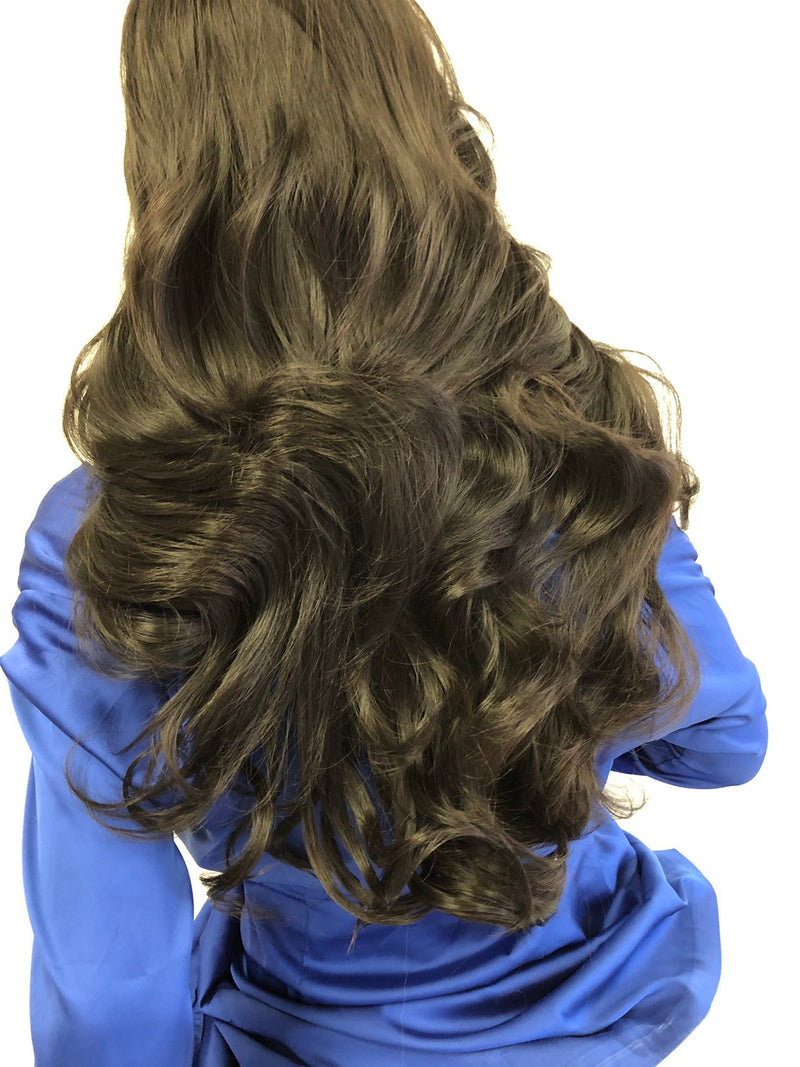 "Brown Swiss Lace Wig 20"" 1118 85"