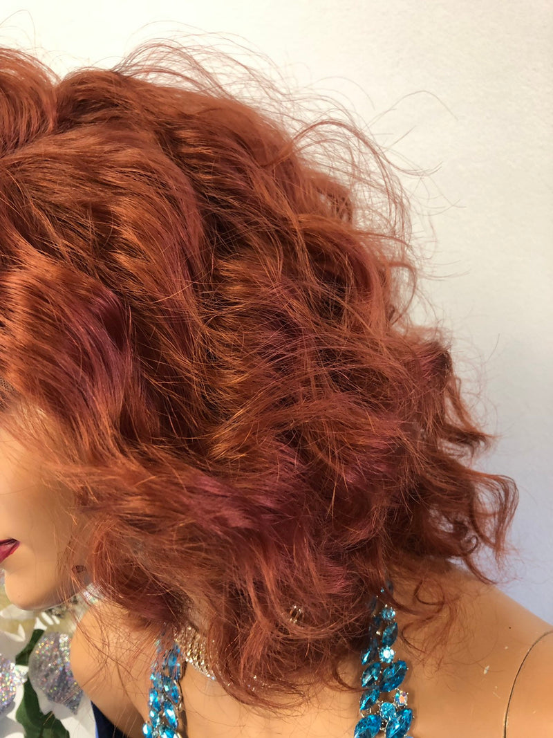 "Red Swiss Lace Wig 10"" 1218 4"