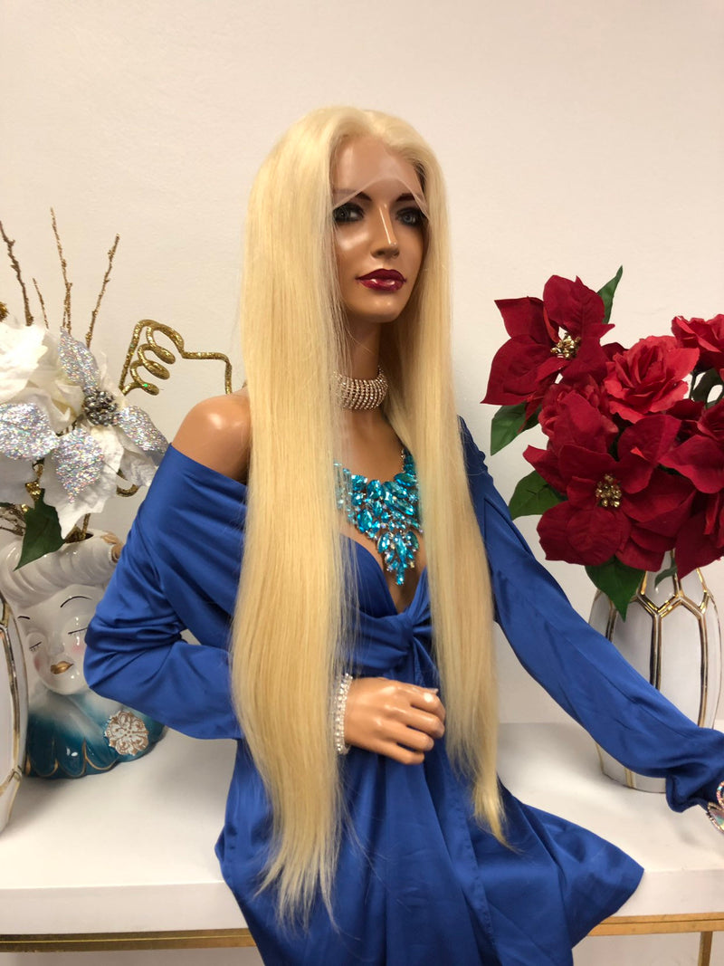 Blond SILK TOP full lace wig | New York 26""