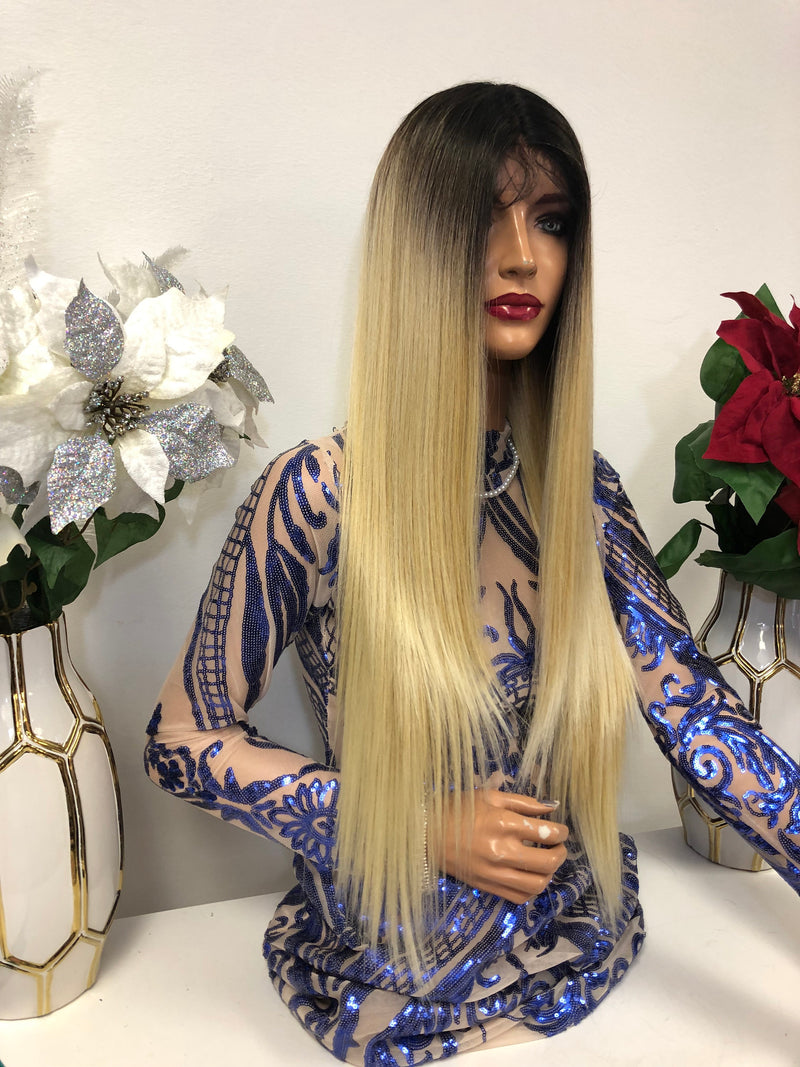 "Blond Balayage Lace Wig 28"" Cannes 1218 38"