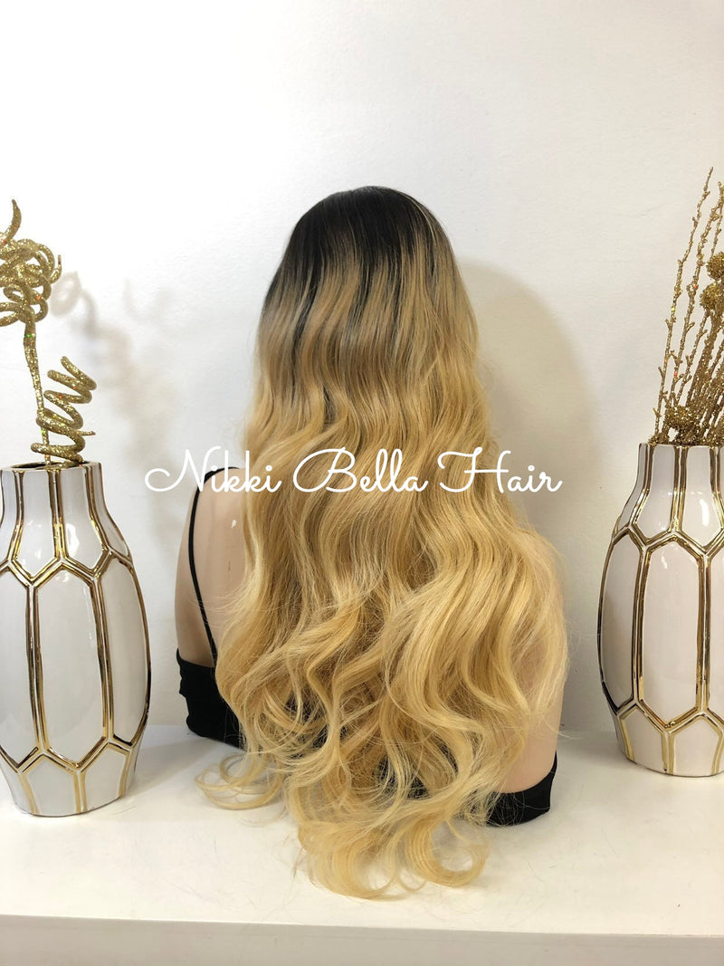 "Blond Ombre SWISS Lace Wig | 26"" Deluxe 1118 30"