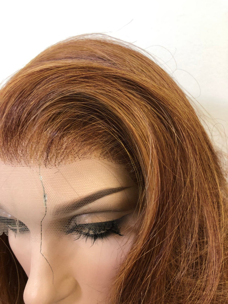 Brown Balayge Swiss Lace Part Wig 22 Inches | Soft Curls Layered Hair | Sensation