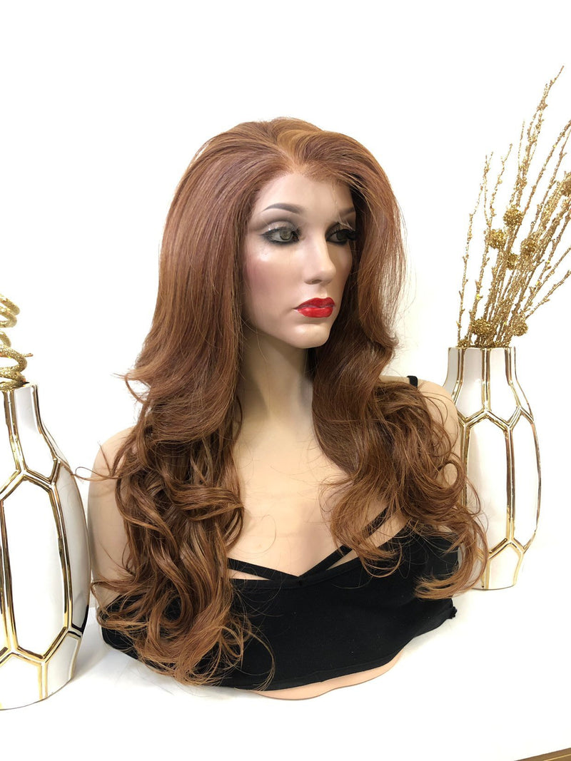 KHI Custom order (Bianca color) Swiss Lace Part Wig 22 Inches | Soft Curls Layered Hair | Sensation