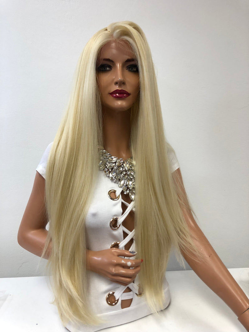 "Long Blond Swiss Lace Wig 28"" Cami 121843*********"