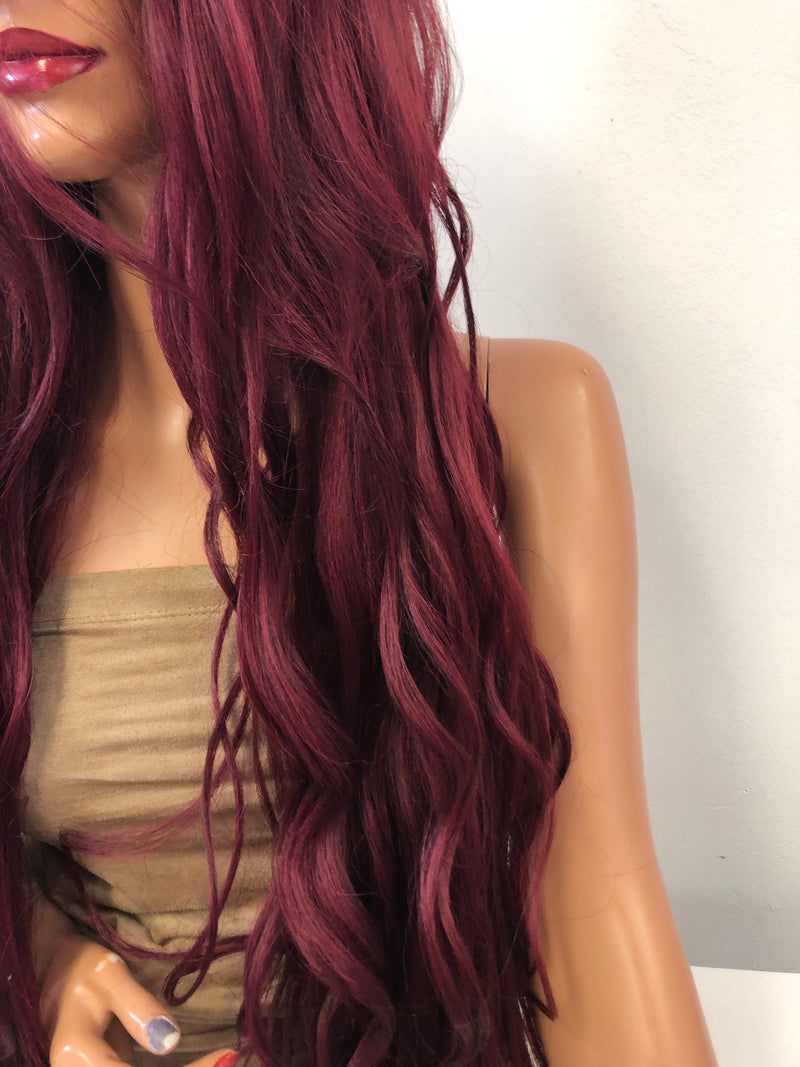 Red Lace Wig | Sleeping Beauty 01 19