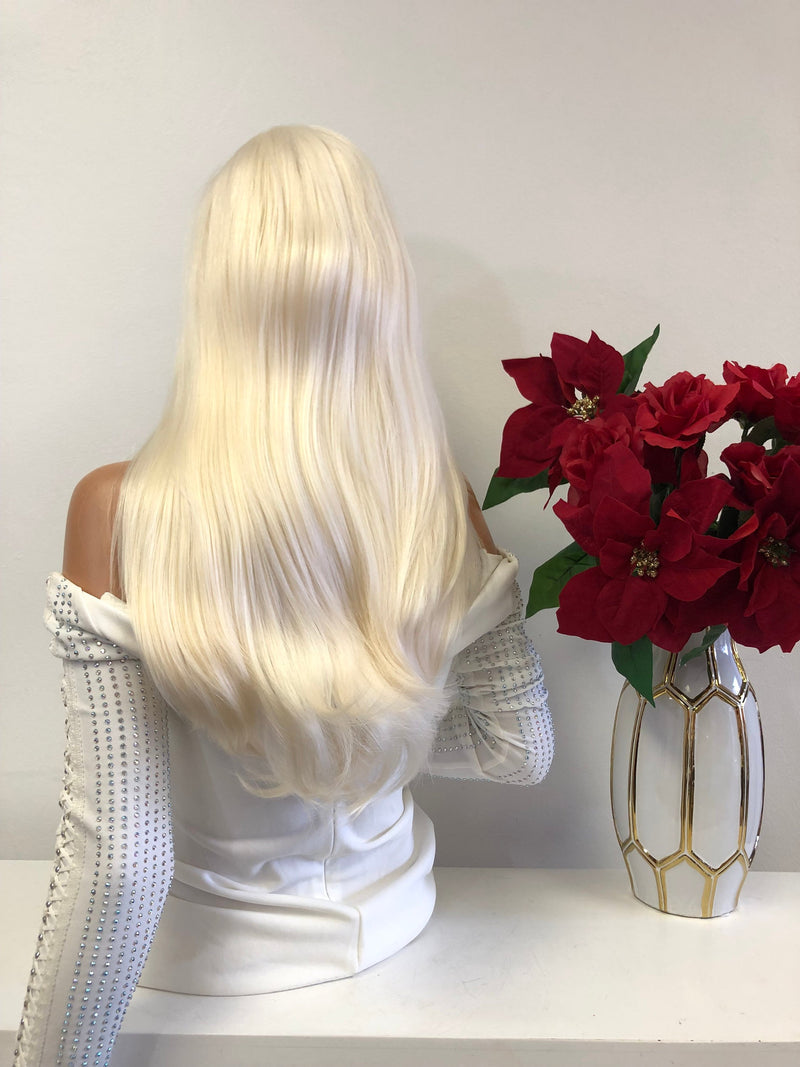"Blond FRENCH Lace Front Wig | 18""  1118 55"