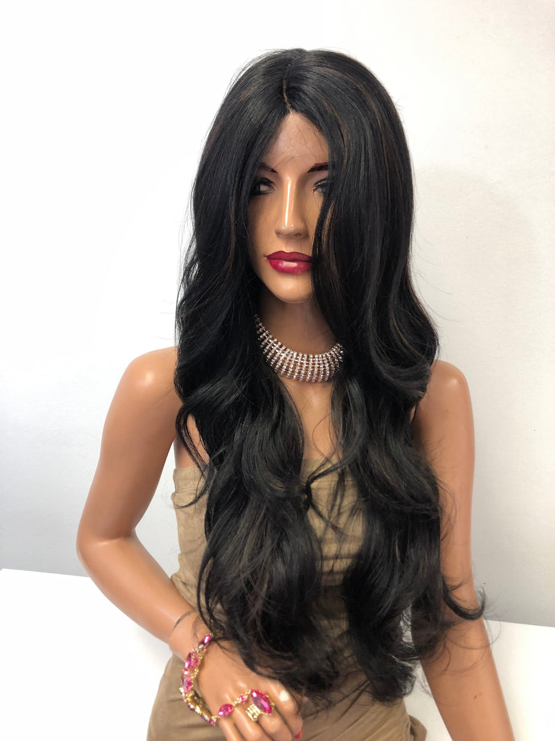 Black Highlights Lace Front Hair Wig | Radiance 1218 65