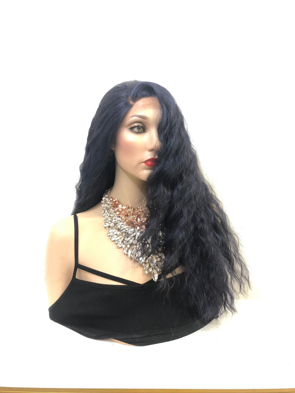 "Blue Long Wavy Hair Lace Front Wig 18""  Soul 0119 33"