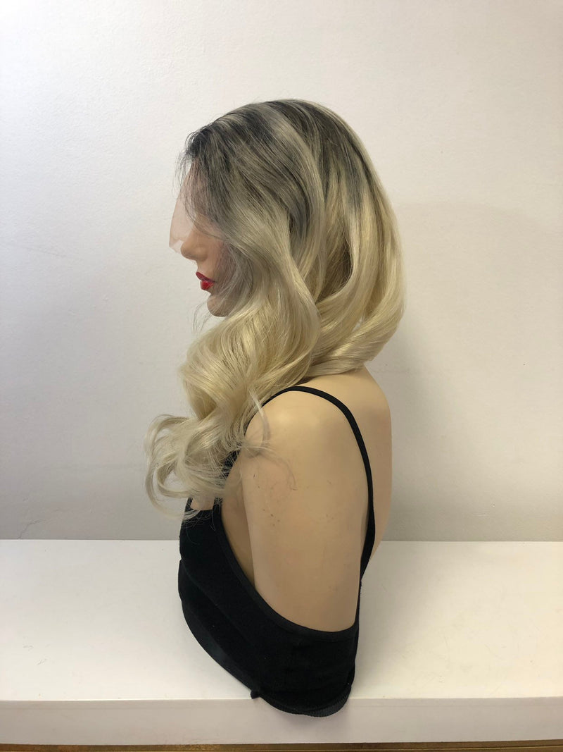 Brazilian Blonde Ombre Human Hair full lace wig | 18""