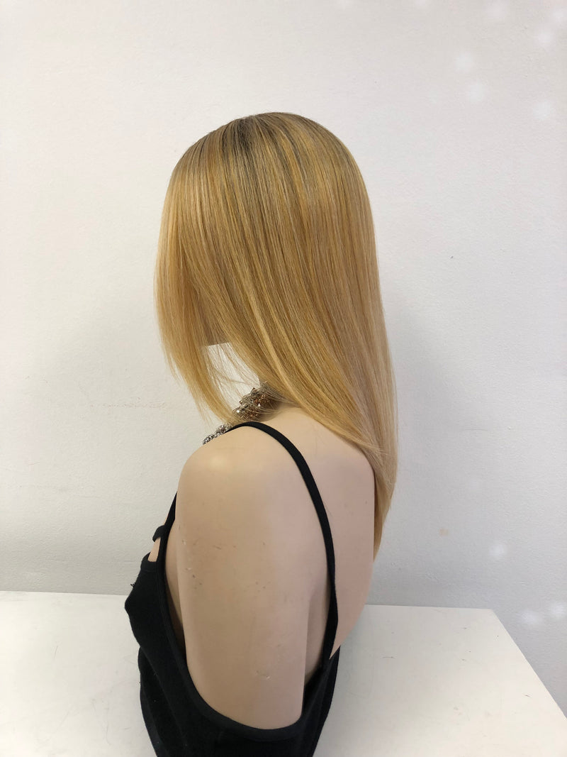 Blond Ombre Swiss lace front wig 01 19