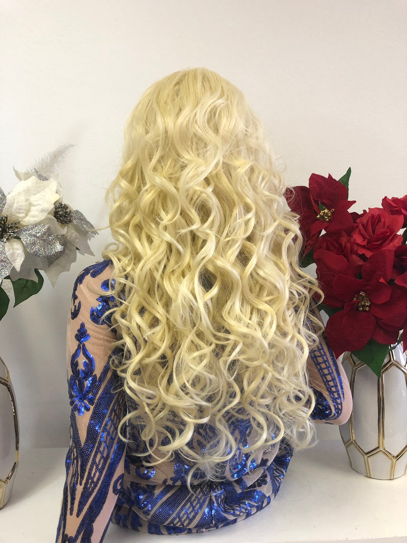 "Blond SWISS Lace Wig | 18"" 1218 30"