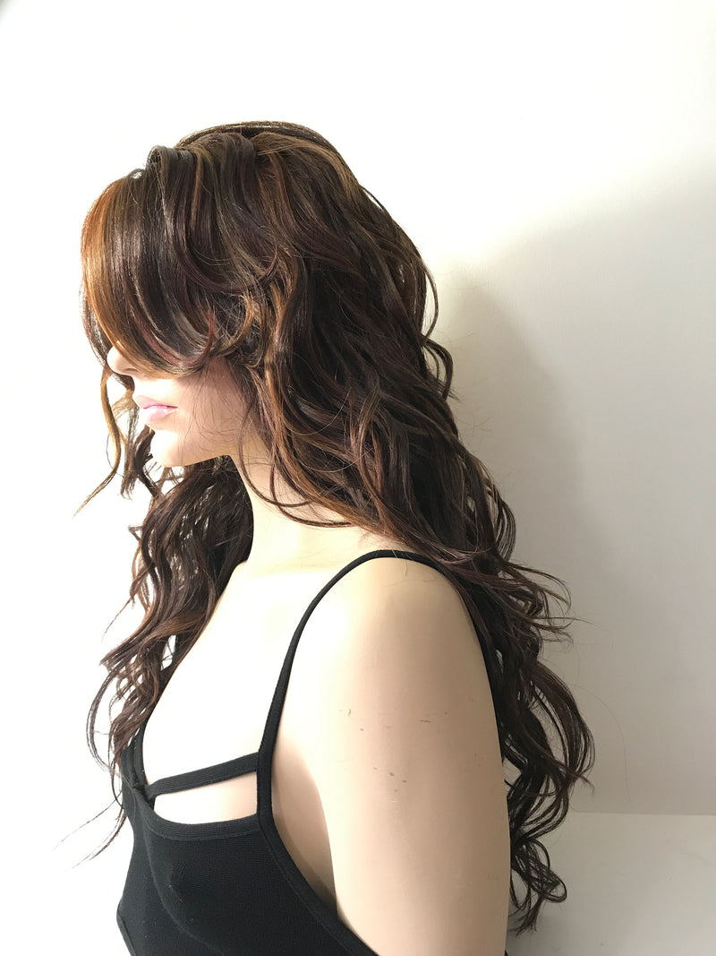 Balayage Dark Brown Lace Front Wig 18""