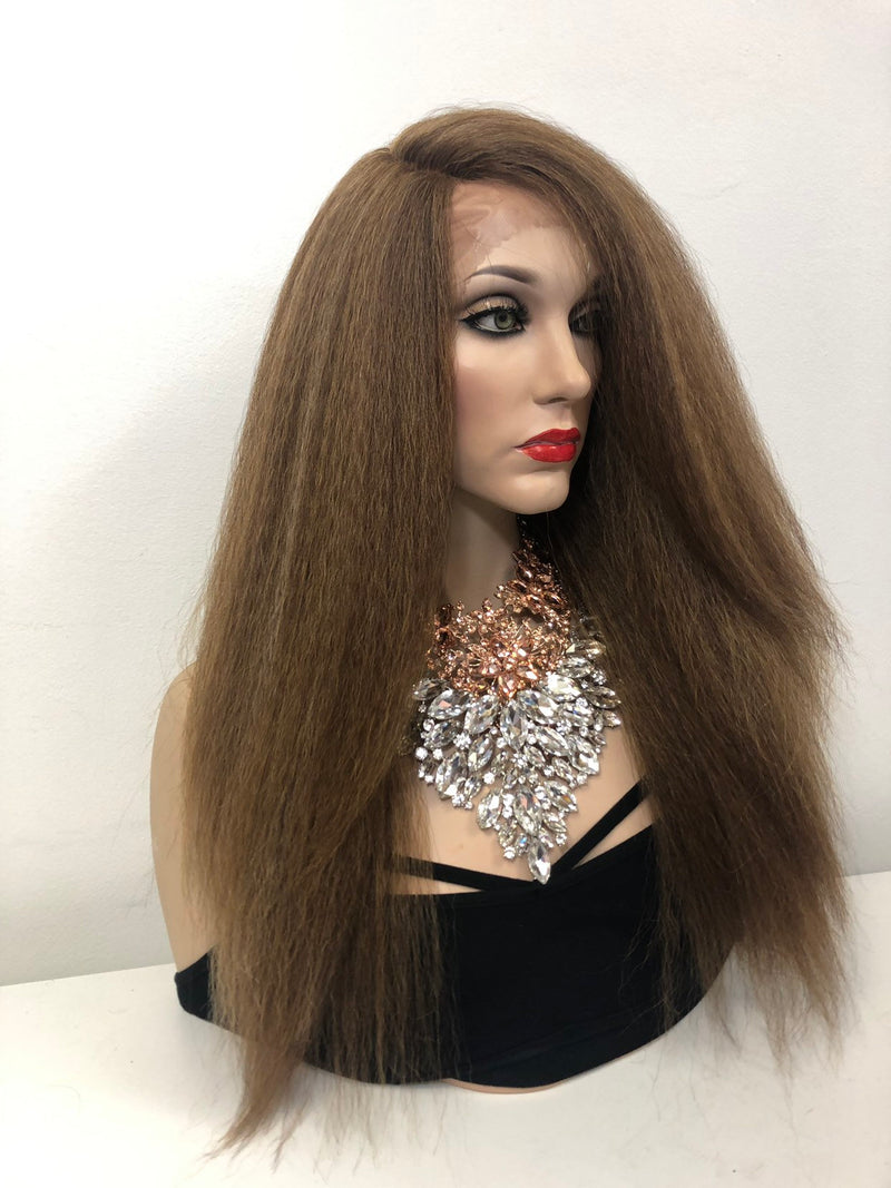 Blond Brown Balayage Swiss Front Lace Wig | Thick Long Soft Layered Hair | Candy 0219 32