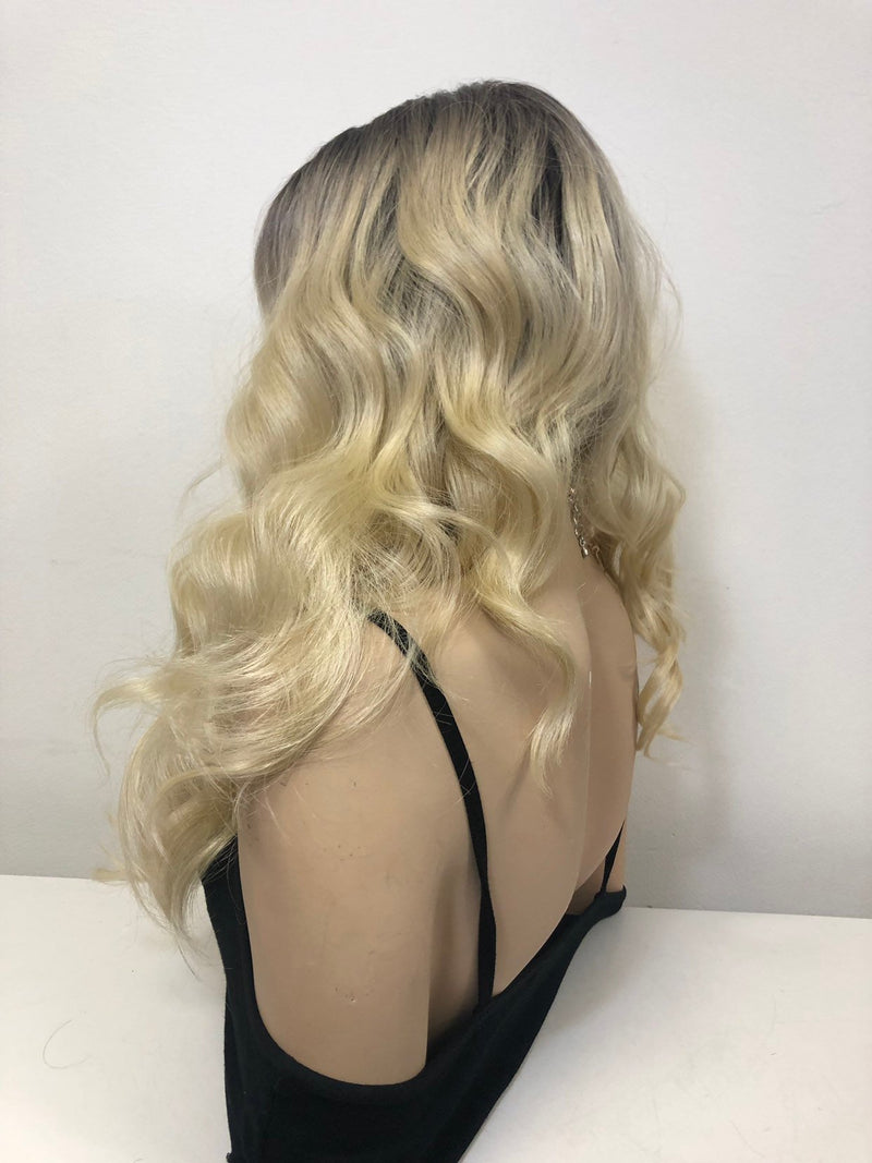 Blond Ombre Swiss Front Lace Wig  Soft Layered Hair | Rosemary 0219 33