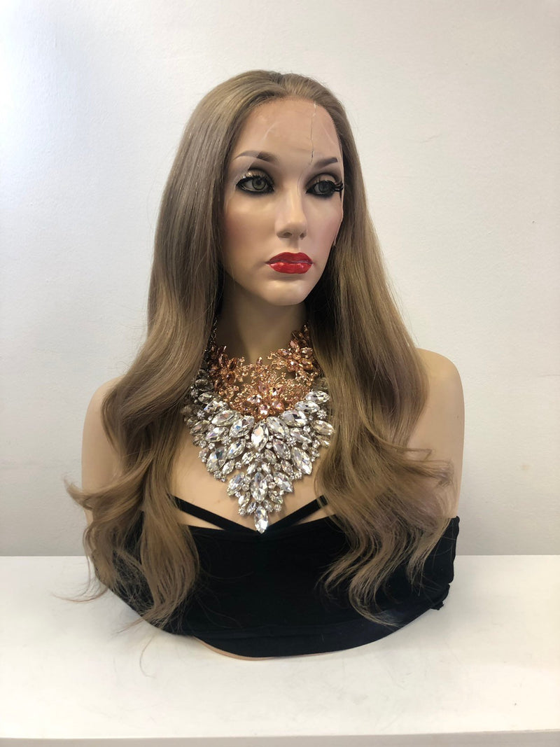 "Dark Blonde Brazilian Human Hair full lace wig | 18"" Laci"