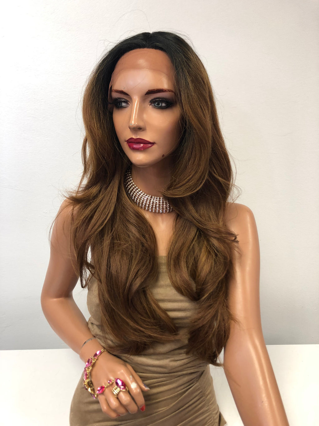 Brown Blonde Lace Front Wig | Amazing Beauty 1218 66