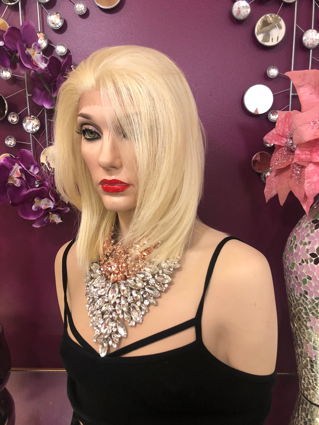 "Blonde Short Hair Lace Front Wig 8"" Adriel  0119 9"
