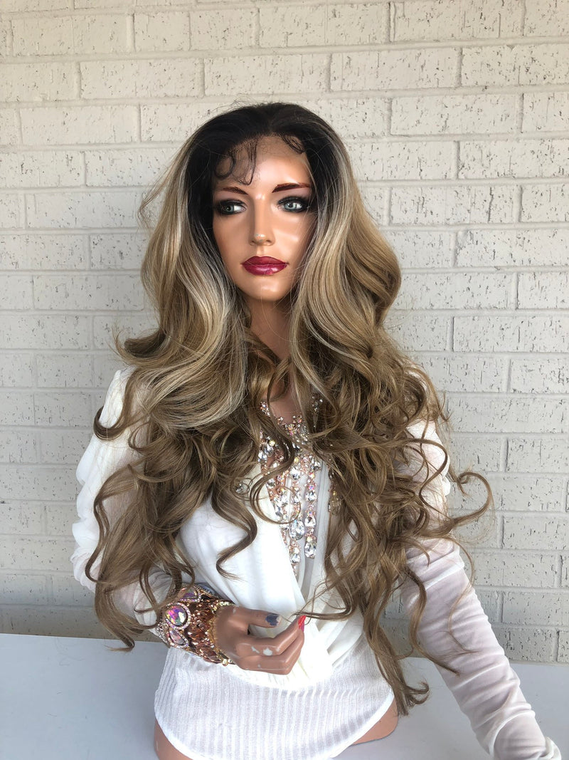 "Brown Blonde SWISS Lace Front Wig 26"" - Rihanna"