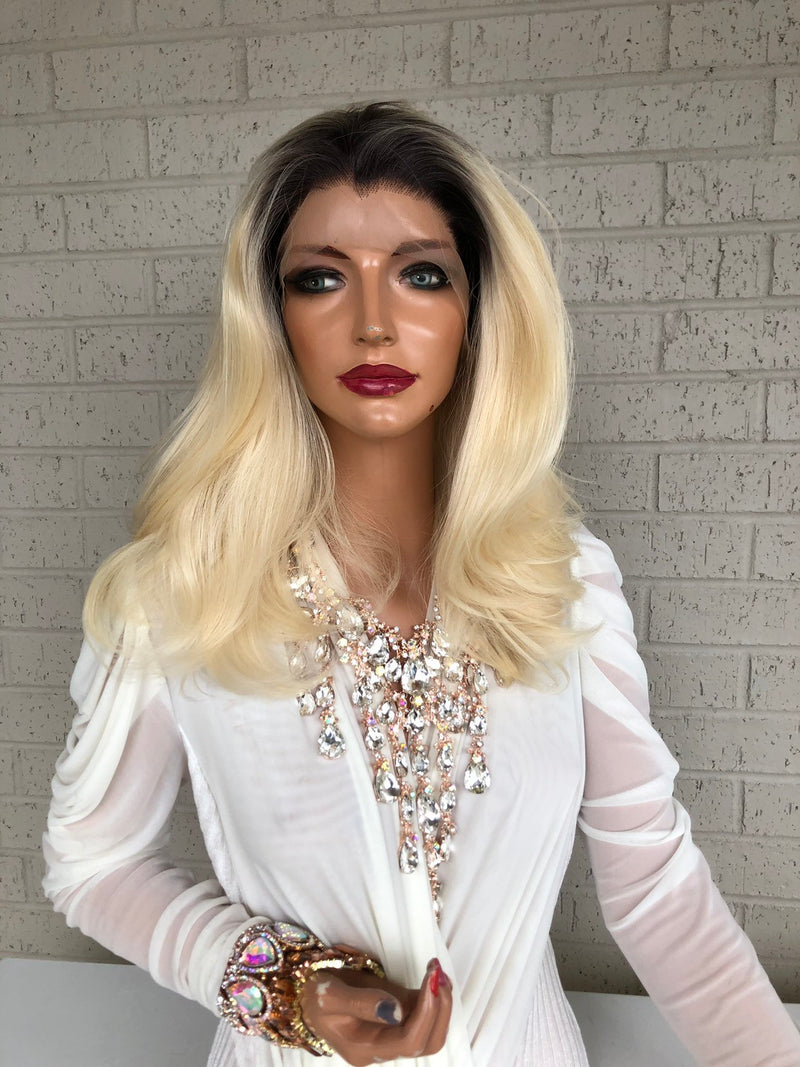 "Ombré  Blonde SWISS Lace Front Wig 14"" Always Beautiful 319 19"