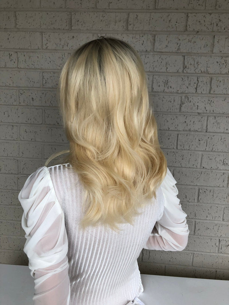 "Ombré  Blonde SWISS Lace Front Wig 14"" Always Beautiful 0319 19"