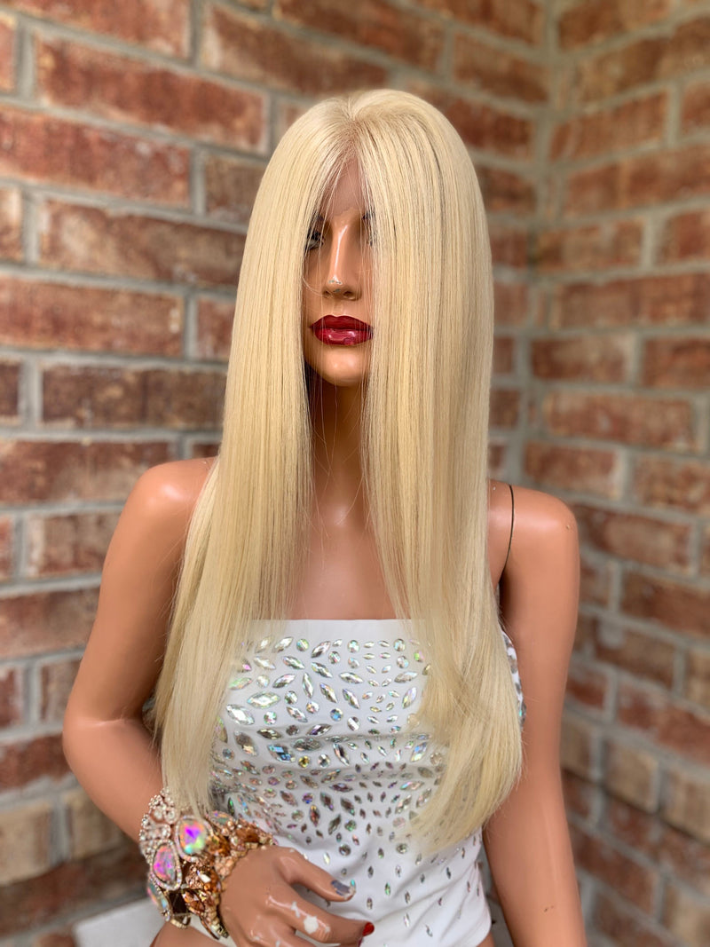Blonde Straight Hair Wig | Multi Parting | Lona 0419
