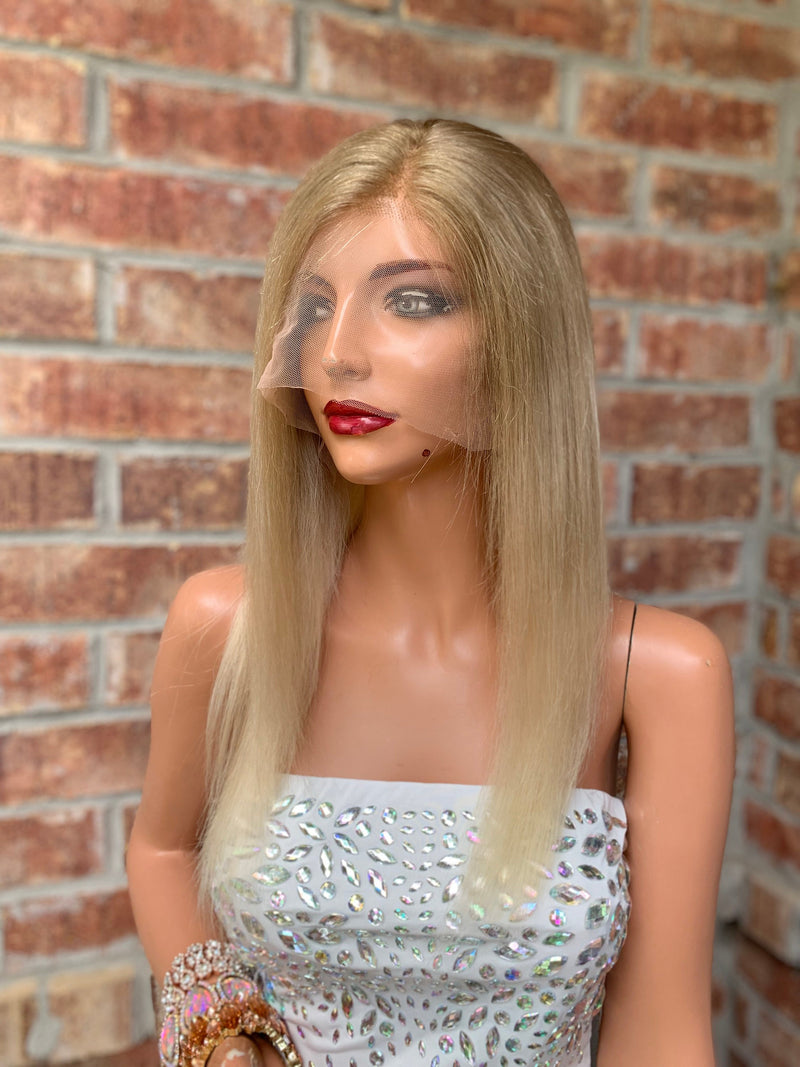 Blond Balayage Full Lace Wig | Full Multi Parting | Mona Lisa 0519