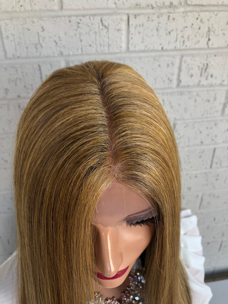 "Balayage Brown Blonde SWISS Lace Front Wig | 22"" Obsessed with you 0319 9"