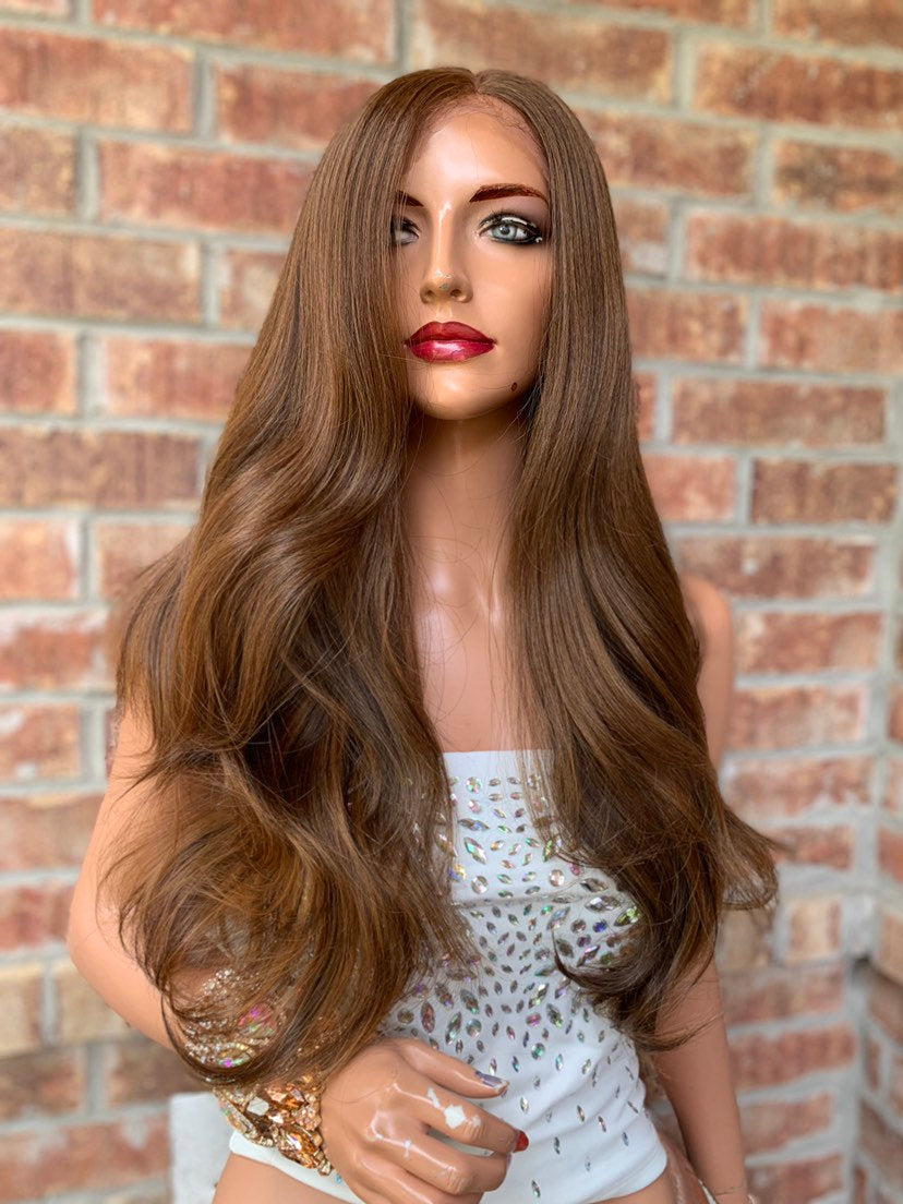 Brown Honey Lace Hair Wig | Invisible Center Parting | Maribel 0519 4