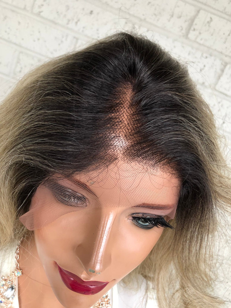 "Blonde Ombré Hair SWISS Lace Front Wig 26""  Blind in Love 319"