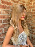 Blond Balayage Full Lace Wig | Full Multi Parting | Rebecca 0519