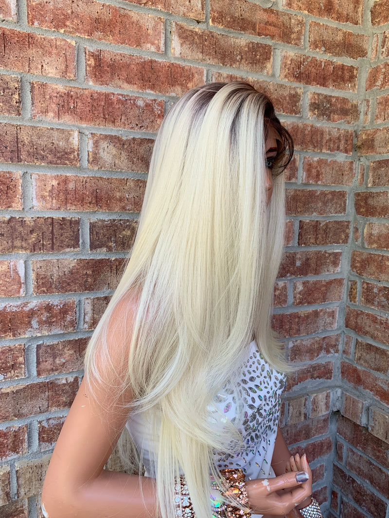 Blonde Ombre' Balayage Hair Wig | 360 Multi Parting | Angela 0519