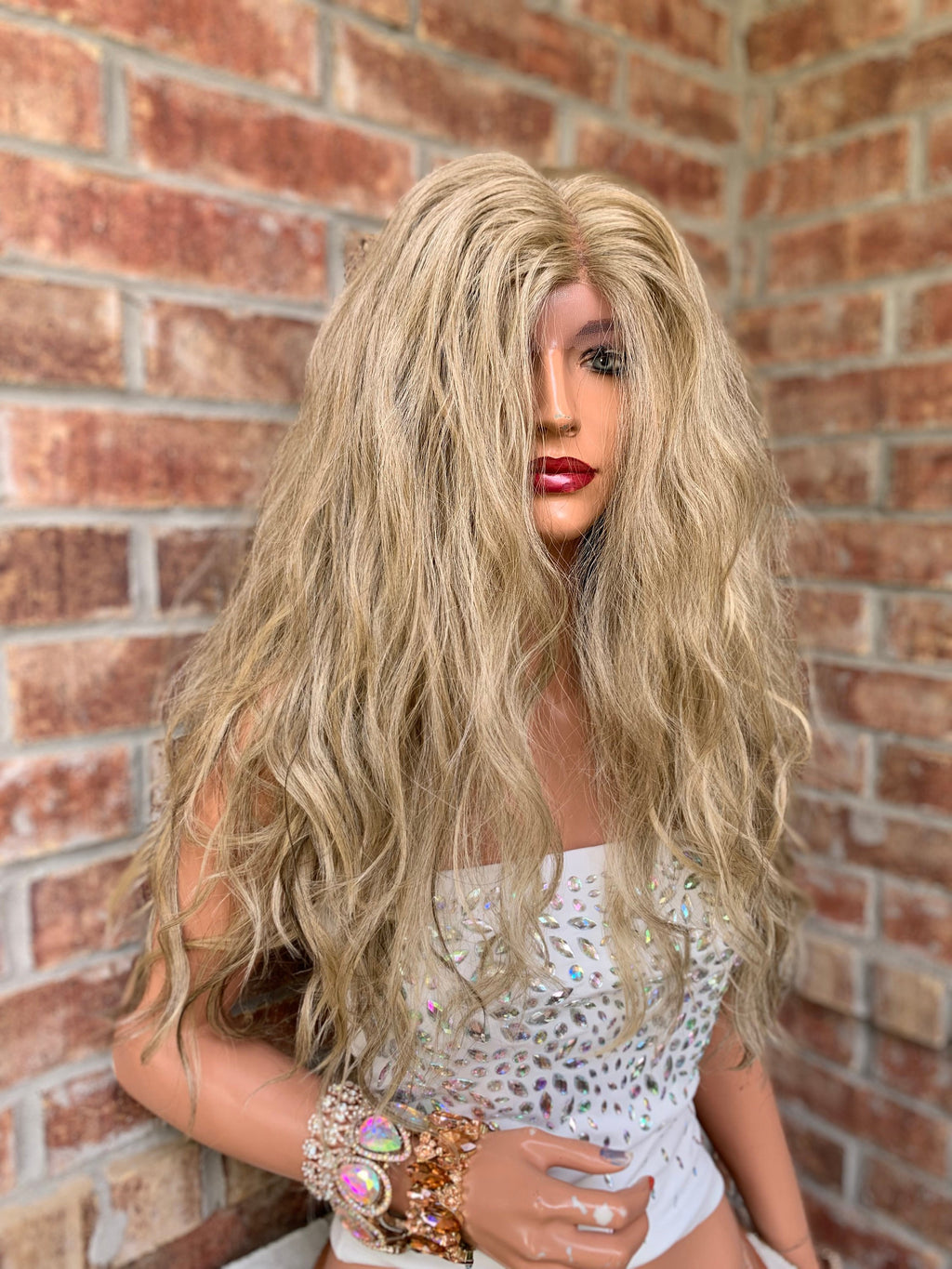 Light Ash Blond Lace Hair Wig | Middle Parting | Pamela 0519