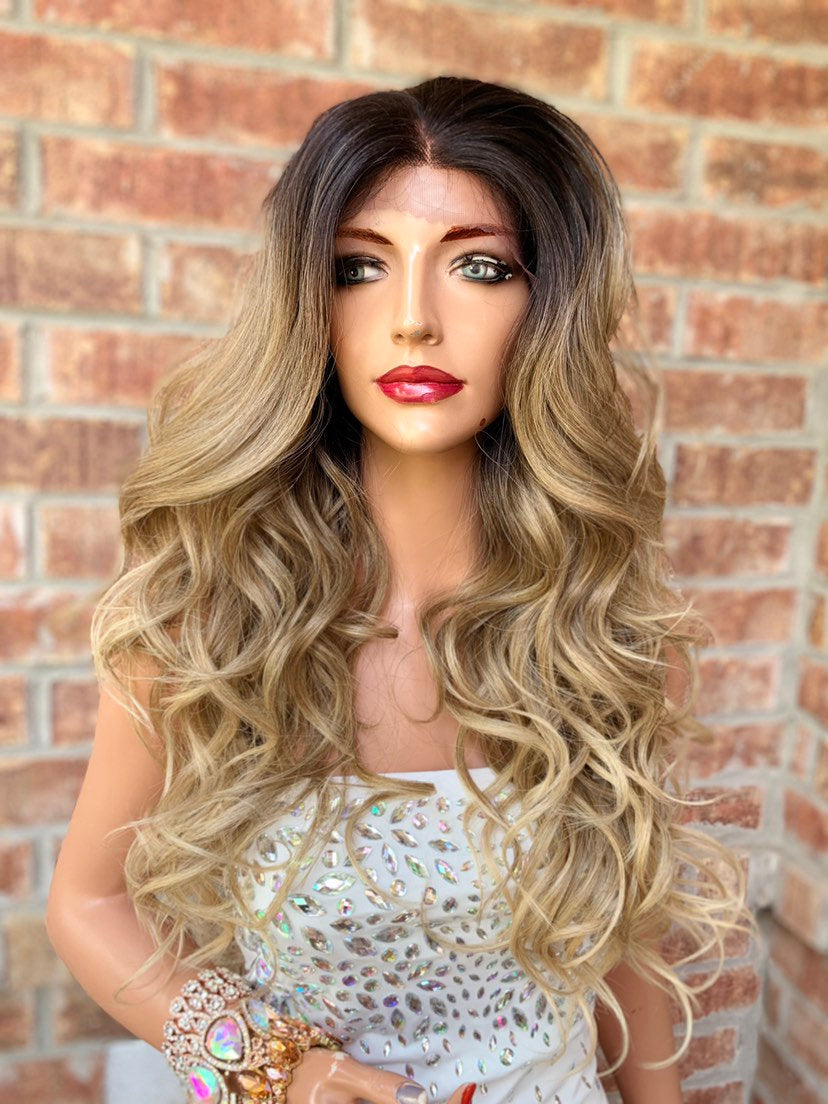 Ombre' Blond Lace Hair Wig | Middle Parting | Maya 0519 1