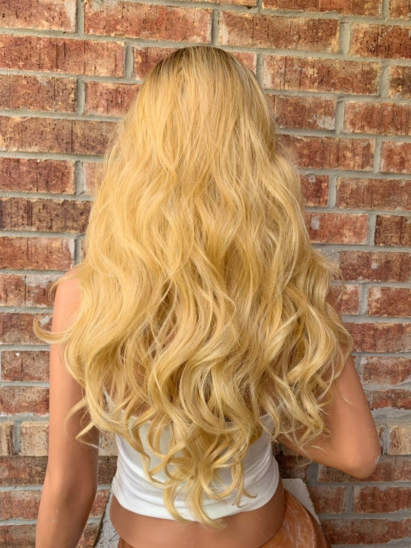Ombre' Blond Lace Hair Wig | 360' All Around Parting | Sunset 0519 2