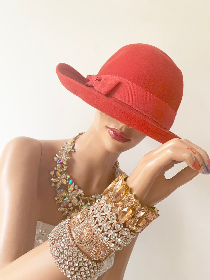 VINTAGE Red hat by hat attack New York