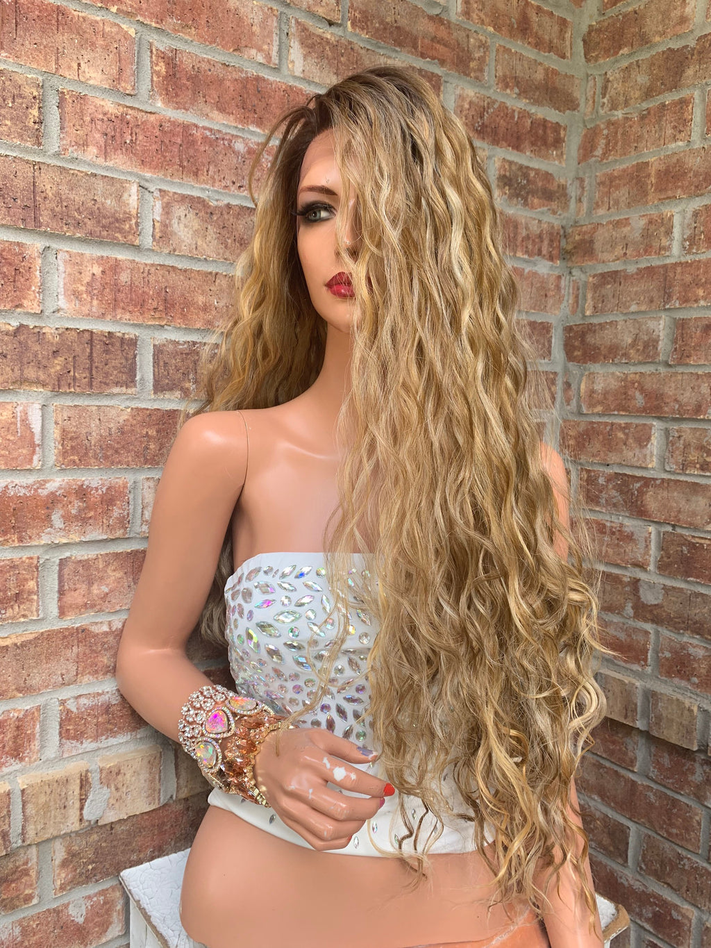 Ombre Brown Honey Hair Lace Wig | Invisible 4x4 Free Parting | Dream 0519