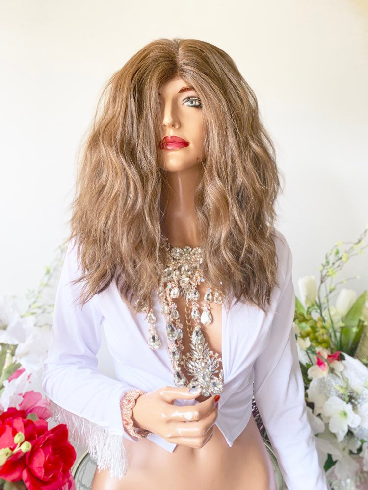 HOLLIANNE BROWN BALAYAGE Hair Lace Wig 12