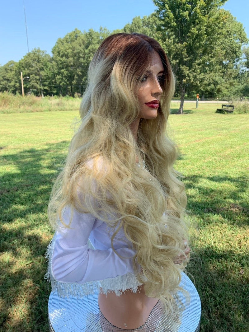 Hannah Natural Hair Wig, Ombre Light Blonde