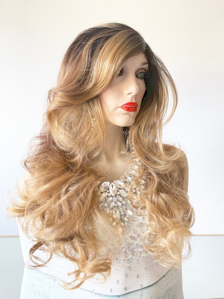 LAVAISA BROWN BALAYAGE Hair Lace Wig 919 33