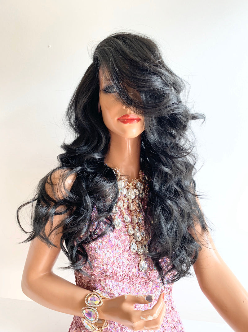 BRITAINNI black lace front wig in 18 inches *420*