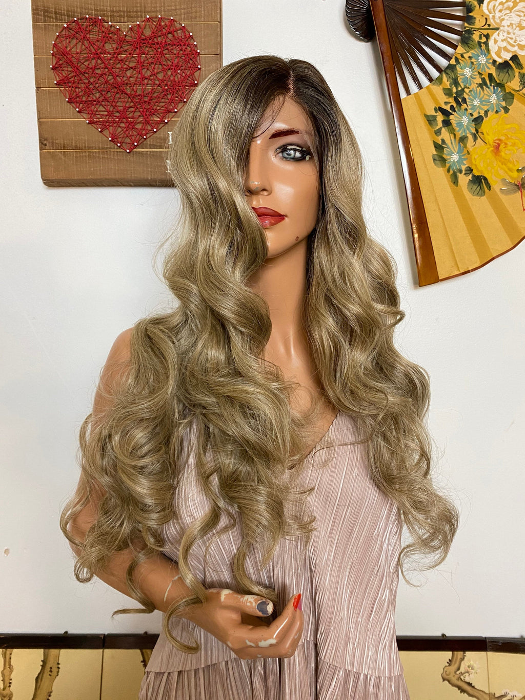 "LORI-ANNE ash blonde lace front wig 22"" Long