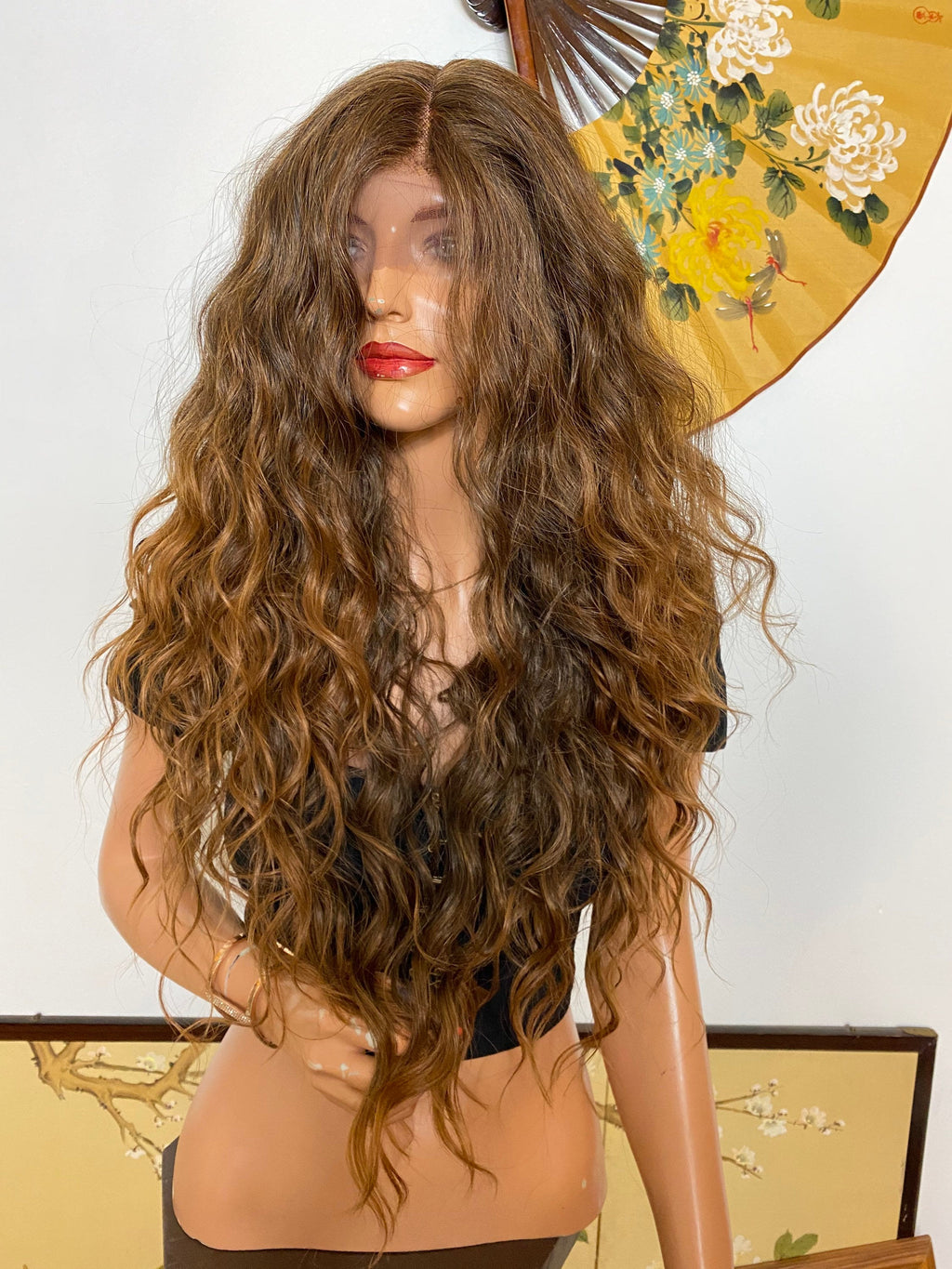 KAITLYN* brown soft layered waves |LUXURIOUS ILLUSION lace front wig 26""