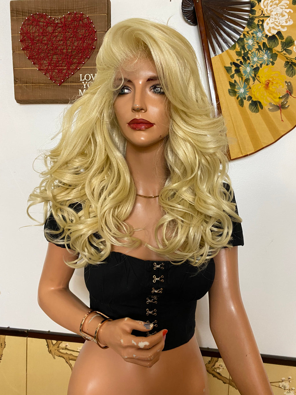 "CARA 13x4 BLONDE lace front wig 16"" Long