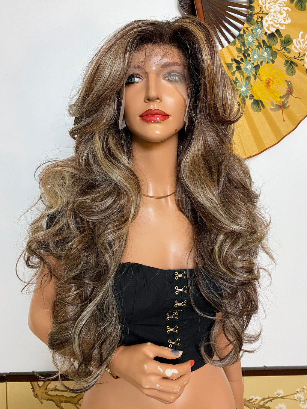 CAROLINA* balayage ash blonde layered curls |LUXURIOUS 13x6 ILLUSION lace frontal wig 28""