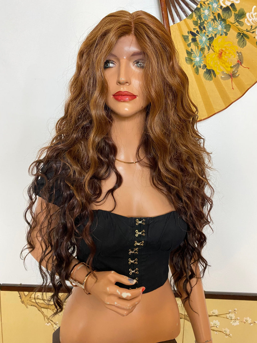LAURIE* ombré brown soft layered waves |LUXURIOUS ILLUSION lace front wig 26""