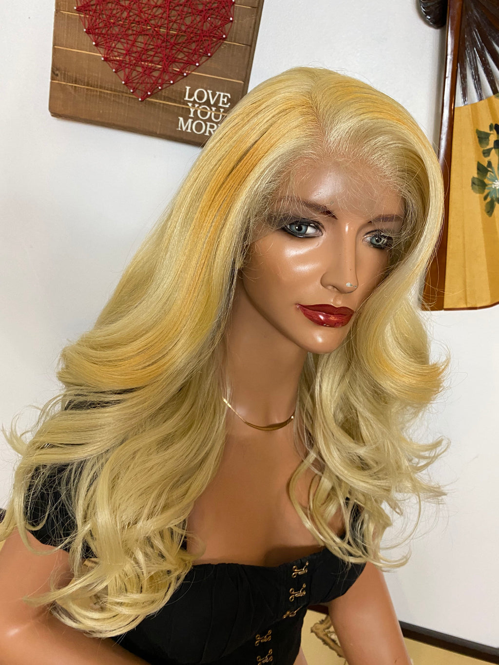 "MEL 13x4 BLONDE lace front wig 16"" Long