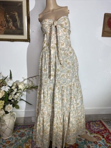 HAPPY X NATURE Floral Tiered Maxi Dress Small #1020