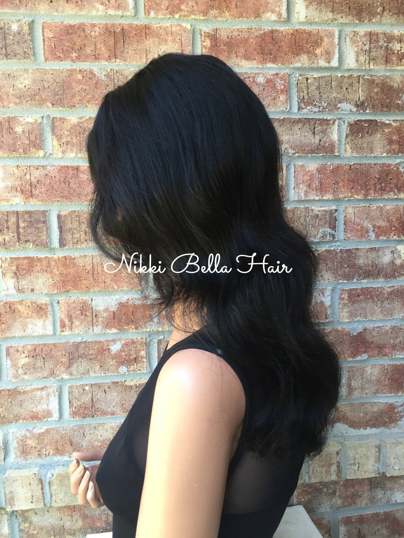 "Wade 14""  Remy Humuan Hair Full Lace Wig"