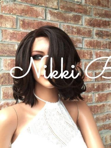 Short Brown BOB Lace front wig 10