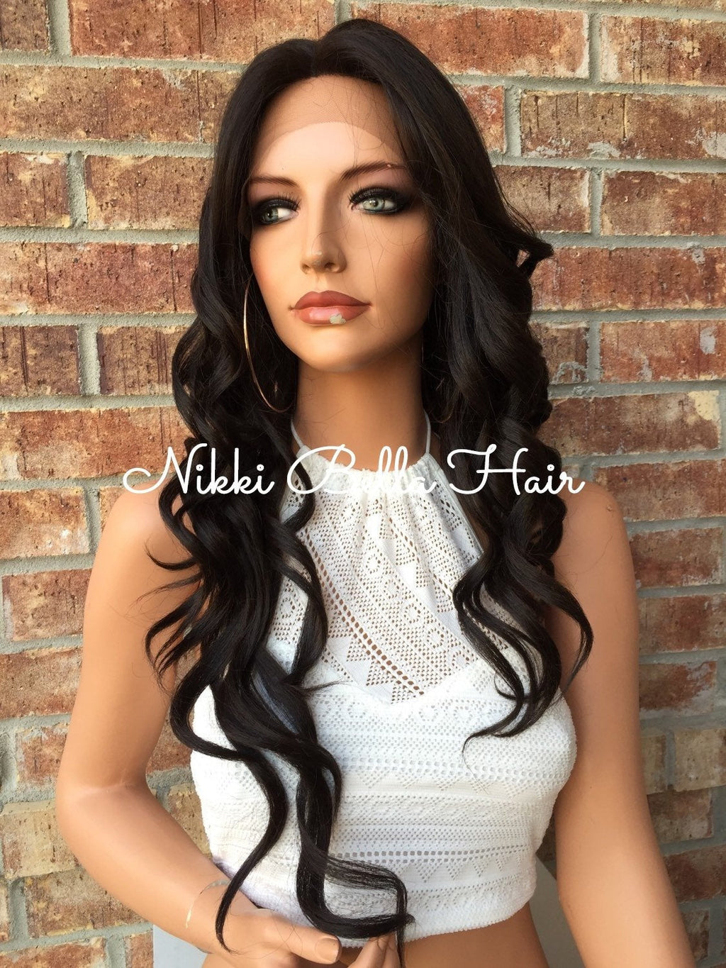 Brooke Long Curls Human Hair Multi Parting Lace Front Wig 26""